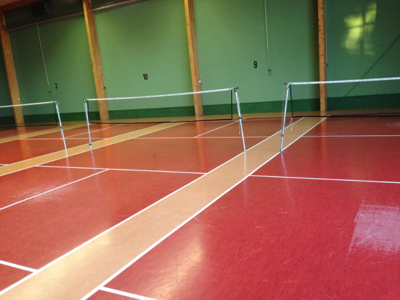 "Badminton <br /><span class=""second""> Partnerspiel</span>"