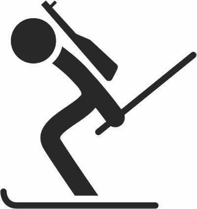 Biathlon - Wintersport in der Turnhalle - lustige Spielidee für Kinder