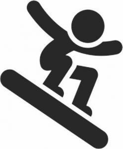 Winterspiele - Snowboard Gleichgewichtstraining