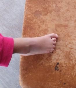 Kinder Fußgymnastik