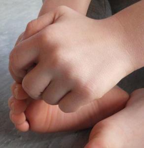 Salzmassage Fuß