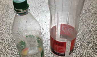 Sport mit Plastikflaschen
